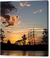 Power In The Sunset Canvas Print