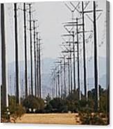 Power Poles  Canvas Print