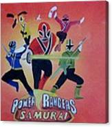 Power Rangers Samurai Canvas Print