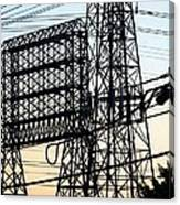 Power Tower Lines Canvas Print