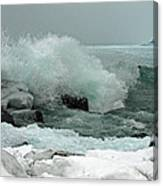 Powerful Winter Surf Canvas Print
