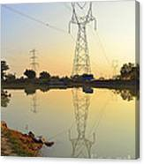 Powerline And Pylons Canvas Print