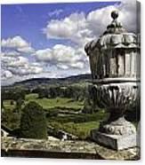 Powis Castle Garden Urn Canvas Print