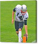 Practice At The Goal Line Canvas Print