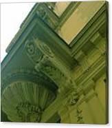 Prague Building In Green Canvas Print