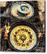 Prague Clock Orloj Canvas Print