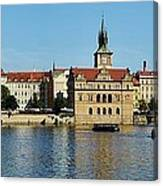 Prague East And Charles Bridge Canvas Print