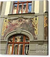 Prague - Mucha Mural Canvas Print