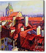 Prague Old Roofs 04 Canvas Print