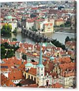 Prague - View From Castle Tower - 03 Canvas Print