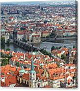 Prague - View From Castle Tower - 05 Canvas Print