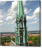 Prague - View From Castle Tower - 07 Canvas Print
