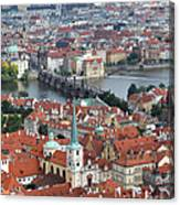 Prague - View From Castle Tower - 10 Canvas Print
