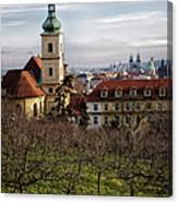 Prague View From The Gardens Canvas Print