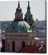 Prague With Pink Canvas Print