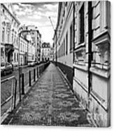 Praha Sidewalk  Canvas Print