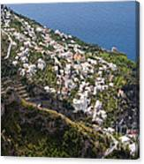 Praiano Village Canvas Print