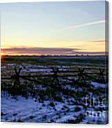 Prairie Sunrise Canvas Print