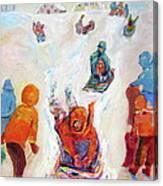 Prairie Winter Fun Canvas Print