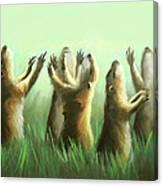 Praising Prairie Dogs Canvas Print