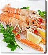 Prawns With Lemon And Parsley  Canvas Print
