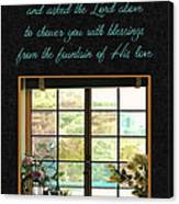 Prayer For You Card Canvas Print