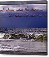 Prayer In Storm Canvas Print