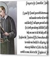 Prayer To St. Gerard For Motherhood Canvas Print