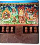Prayer Wheels And Paintings Canvas Print