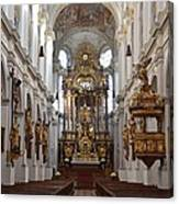 Praying At Munich Church Germany Canvas Print