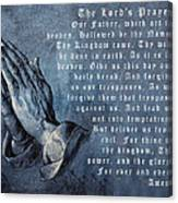 Praying Hands Lords Prayer Canvas Print