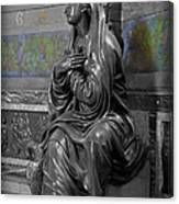 Praying Statue In Chantilly Canvas Print