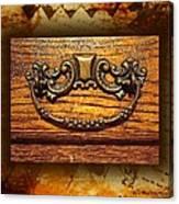Pre-civil War Bookcase-drawer Pull Canvas Print