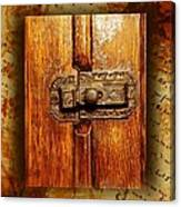 Pre-civil War Bookcase-glass Doors Latch Canvas Print