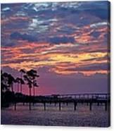 Pre-dawn Colors On Santa Rosa Sound Canvas Print