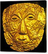 Pre-inca Gold Mask Canvas Print