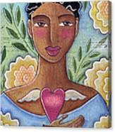 Precious Heart by Elaine Jackson Canvas Print
