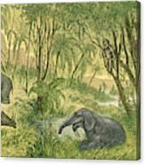 Prehistoric, Miocene Landscape Canvas Print