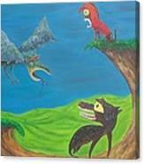Prehistoric Pets Canvas Print