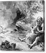 Prehistoric Potter Canvas Print