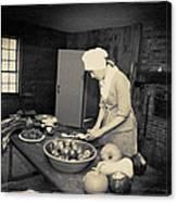 Preparing Dinner Canvas Print