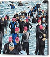 Preparing For The Swim Canvas Print