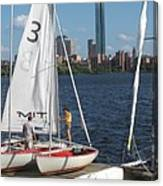 Preparing To Sail In The City. Canvas Print