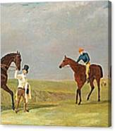 Preparing To Start For The Doncaster Gold Cup 1825 Canvas Print