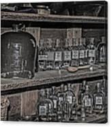 Prescription Drug Bottles Black And White Canvas Print