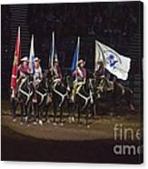 Presenting The Colors On Horseback Canvas Print