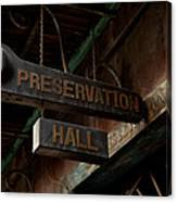 Preservation Hall Jazz Club Canvas Print