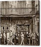 Preservation Hall Sepia Canvas Print
