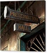 Preservation Hall Canvas Print