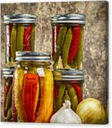 Preserved Peppers Canvas Print